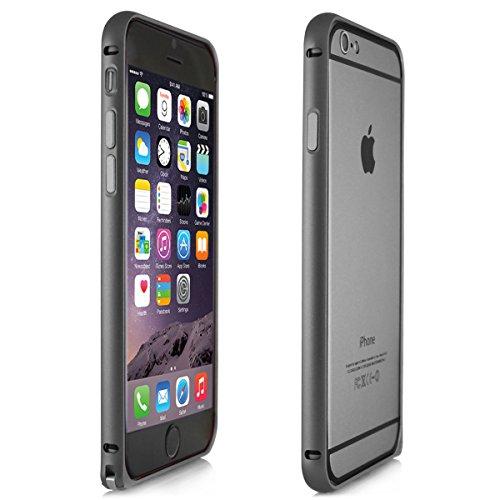 Alienwork Custodia per iPhone 6 Ultra-sottile Cover Case Bumper Alluminio grigio AP601-05