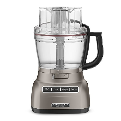 KitchenAid KFP1333ACS Architect Series 13-Cup Food Processor with Exact Slice System, Cocoa Silver