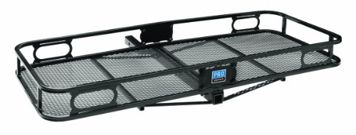"""Pro Series 63152 Black 60"""" X 24"""" Hitch Mounted Cargo Carrier front-1006705"""