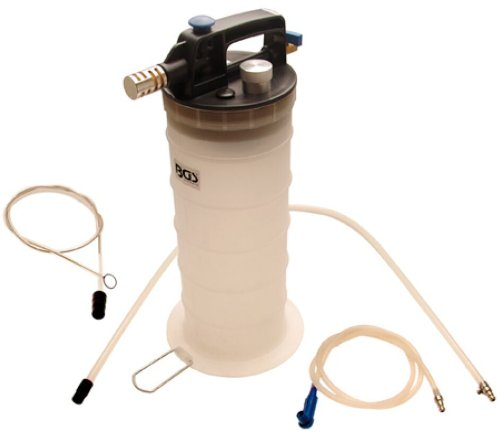 BGS Technic 3157 Compressed Air Brake Bleeder and Oil Suction Device 1.32gal. Container