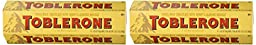 Toblerone Swiss milk chocolate with honey and Almond Nougat - 2 packs of 6 bars