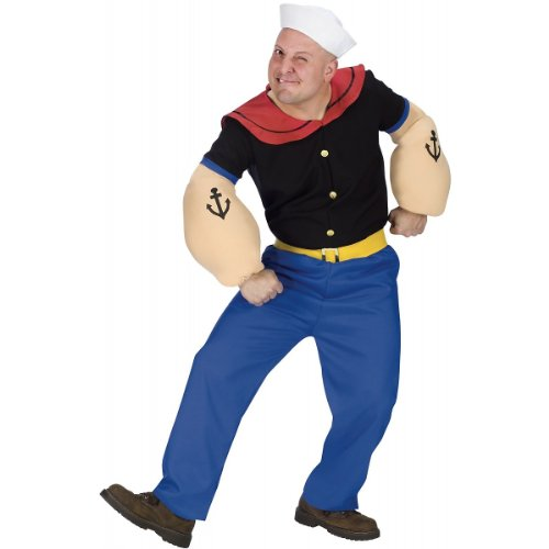 Popeye Costume - Standard - Chest Size 33-45