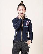 DEEKO Women39s Outdoor Keep Warm Fleece Jacket D418W - Rose Red - XL