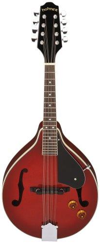 Hohner Hmae-Tr A-Style A/E Mandolin Transparent Red