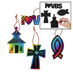 Magic color scratch vbs ornaments vacation for Bible school craft supplies