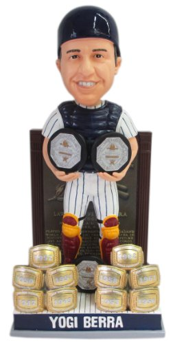 Yogi Berra New York Yankees Bobble Head 3X MVP Trophy/10X Champ Ring Hall of Fame Plaque Base Cooperstown Collection Exclusive #/300 Bobblehead at Amazon.com