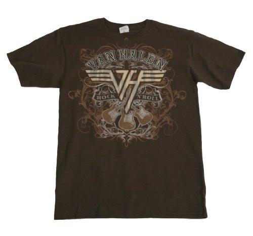 Old Glory - Van Halen - Uomo Rock N Roll T-shirt Medium Brown