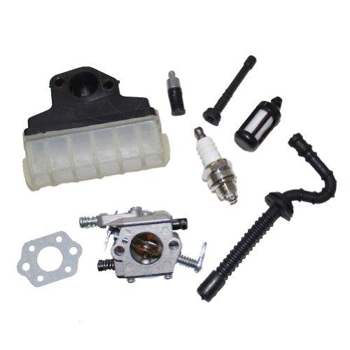 New Pack of Carburetor Air Oil Filter Fuel Line Hose Tube Spark Plug Gasket fit for Stihl Ms210 Ms230 Ms250 021 023 025 (Stihl 021 Carburetor compare prices)