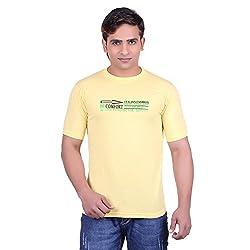 Martin Smith Yellow Round Neck T- Shirt For Men