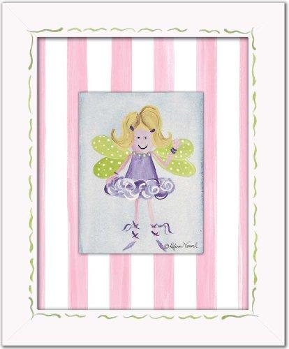 "Doodlefish Framed 14.5""x17.5"" Fairy Wall Art, Lavender"