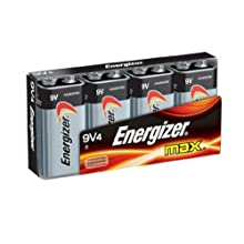 Energizer Max Alkaline 9 Volt, 4-Count