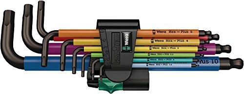 Wera-05073593001-950-SPKL9-SM-N-Multicolour-Winkelschlsselsatz-metrisch-BlackLaser-9-teilig