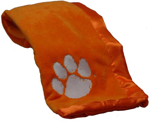 Pickles Embroidered Fleece Baby Blanket with Satin Trim - Clemson University at Amazon.com