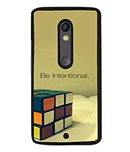 printtech Cool Quotes Back Case Cover for Motoroal Moto X Play