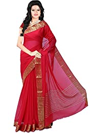 Roopkala Silks & Sarees Chiffon Saree (Ds-236_Red)