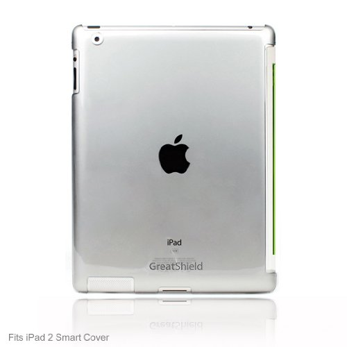 GreatShield Smart Cover Buddy Snap On Slim-Fit Case for Apple iPad 2 - Transparent Clear