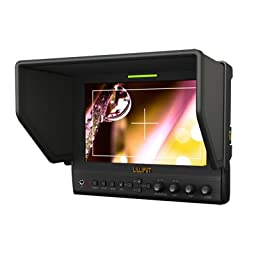 Professional Monitor Lilliput 7\'\' 663/O Color LCD Monitor TFT / Input Signal: HDMI, YPbPr, Composite, Audio (L/R), TALLY / QM91D F970 Battery Plate / Resolution: 1280×800