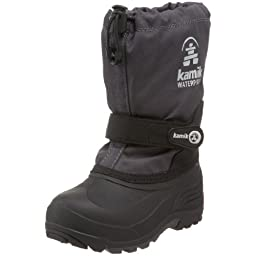 Kamik Waterbug Wide Cold Weather Boot (Toddler/Little Kid/Big Kid),Charcoal,1 W US Little Kid