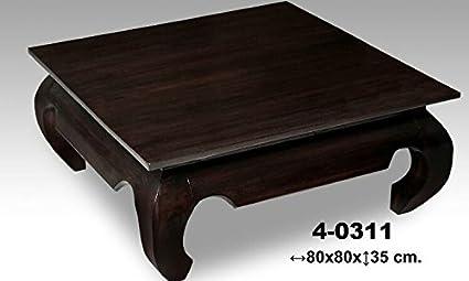 Mesa centro madera nogal modelo Opium Medidas:80*80*35