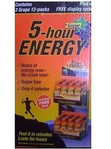 5 Hour Energy Drink Grape Flavor 24 Count
