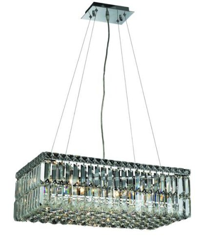 Elegant Lighting 2034D24C/Rc Maxim 7.5-Inch High 6-Light Chandelier, Chrome Finish With Crystal (Clear) Royal Cut Rc Crystal front-823412