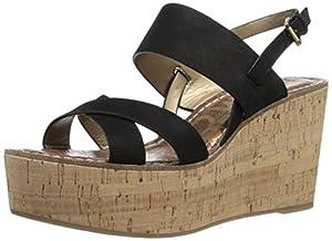 Sam Edelman Women's Destiny Platform Sandal, Black, 8.5 M US
