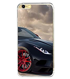 Black Sport Car 2D Hard Polycarbonate Designer Back Case Cover for Apple iPhone 6