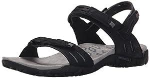 Merrell Women's Terran Strap II Sandal, Black, 8 M US