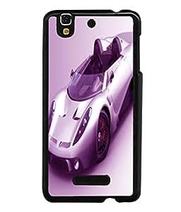printtech Superfast car Back Case Cover for YU Yureka Plus