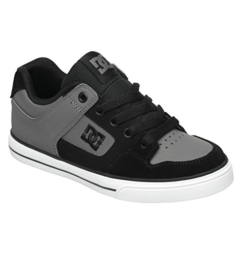 Dc Pure Skate Sneaker (Toddler/Little Kid/Big Kid),Charcoal/Black,4 M Us Big Kid