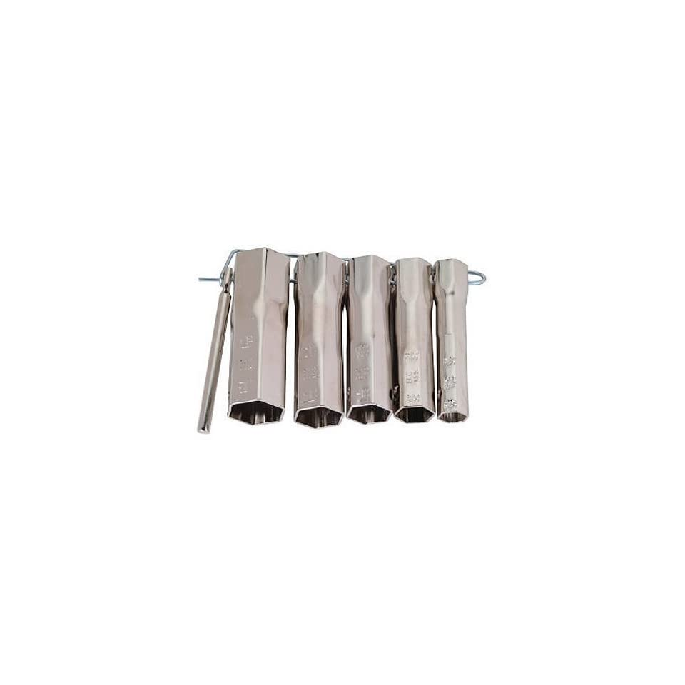 Shower Valve Socket Wrench Set Contains Five Different Size Wrenches Plus Handle All Contained on a Metal Loop