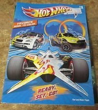 Hot Wheels Favorite Book to Color ~ Ready, Set, Go! - 1