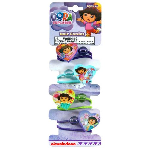 Dora Hair Ponies (1) Party Accessory - 1