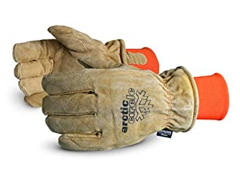 Superior 678AFTLK Arctic Circle Split Leather Thinsulate Lined Freezer Glove, Work, X-Large, Brown (Pack of 1 Dozen)