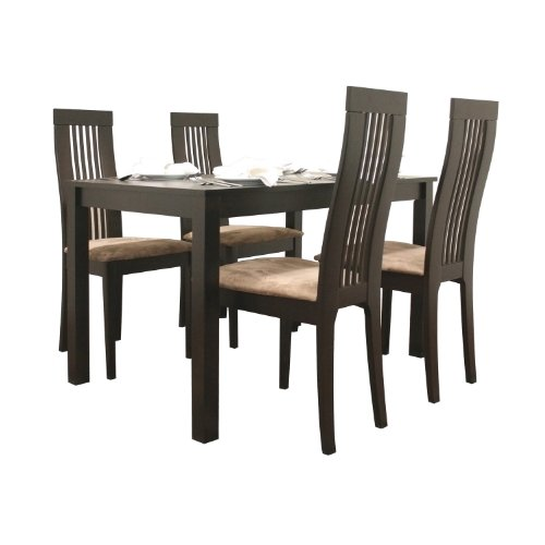 Baxton Studio Farrington Modern Dining Table / Breakfast Table, Dark Brown
