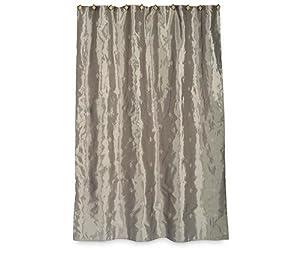 Silver Tack Fleur De Lis Shower Fabric Curtain Bath Tissue Holders