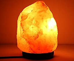 Himalayan Light Natural Air Purifying Himalayan Salt Lamp with Neem Wood Base, Bulb and Dimmer switch