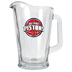 Detroit Pistons NBA 60oz Glass Pitcher - Primary Logo