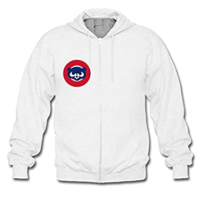 Custom Men Chicago Cubs Bear Team Logo Hoodies Zip Up Jacket