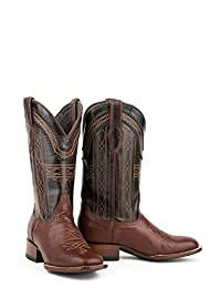 Stetson Denver Mens Brown Goat Leather 13in Stitch Cowboy Boots