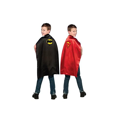 Batman and Superman Reversible Kids Cape - 1
