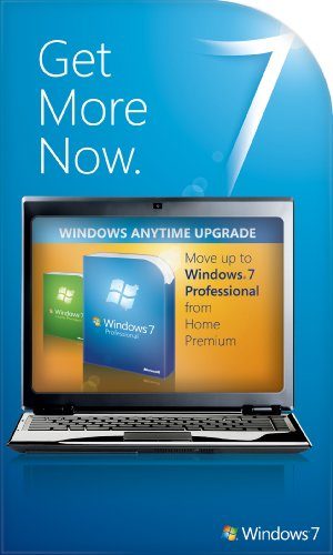 Microsoft Windows 7 Anytime Upgrade (Home Premium to Professional) [Online Code]