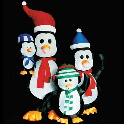 Inflatable Penquin Family