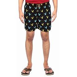 Aaduki Men's Cotton Shorts_Black-XXL
