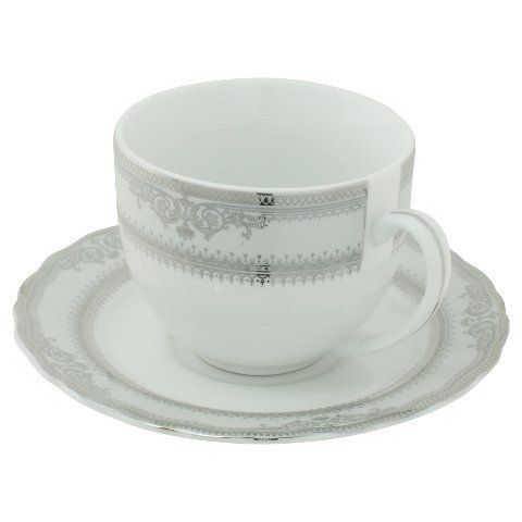 New Ten Strawberry Street Vanessa Paltinum Ballet Cup and Saucer Set of 6