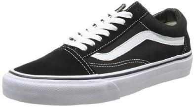 Vans U OLD SKOOL BLACK/WHITE VD3HY28, Unisex-Erwachsene Sneaker, Schwarz (BLACK), EU 36.5 (US 5)