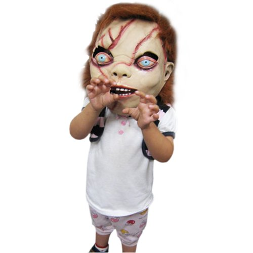 KingMas CHUCKY Mask Latex Full Head Adult Costume Halloween Creepy Scary