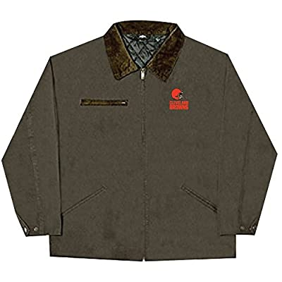 NFL Cleveland Browns Tradesman Canvas Quilt Lined Jacket, Bark, Small