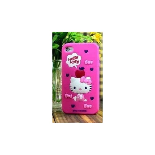 New Cute Hello Kitty Style iPhone 4G/4S Case/Cover/Protector(Rose Pink Color)