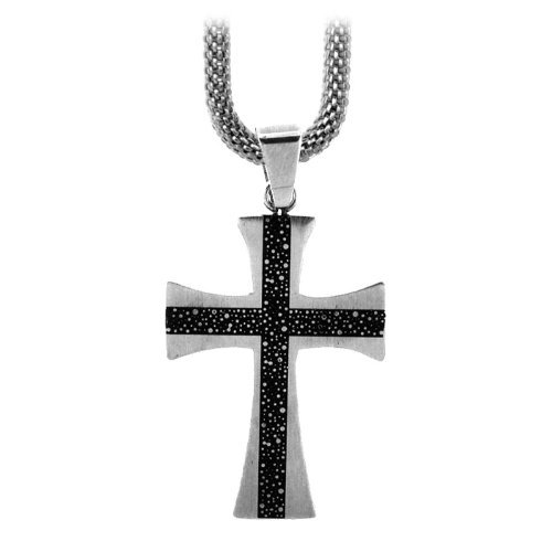 Inox Jewelry Pendants 316L Stainless Steel Crosses (Pendant Only)